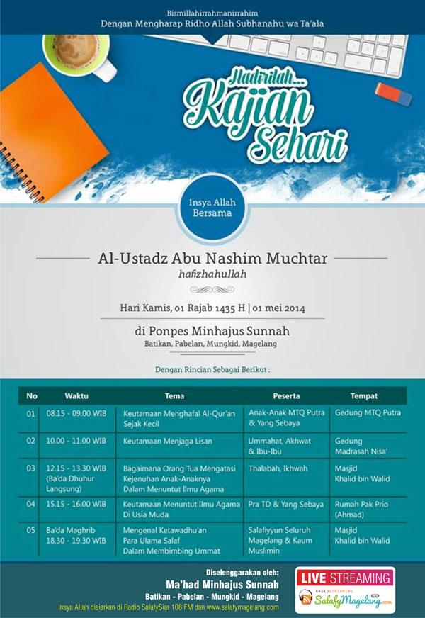 Kajian Sehari Bersama Ust. Abu Nashim Mukhtar