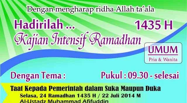 Kajian Intensif Ramadhan