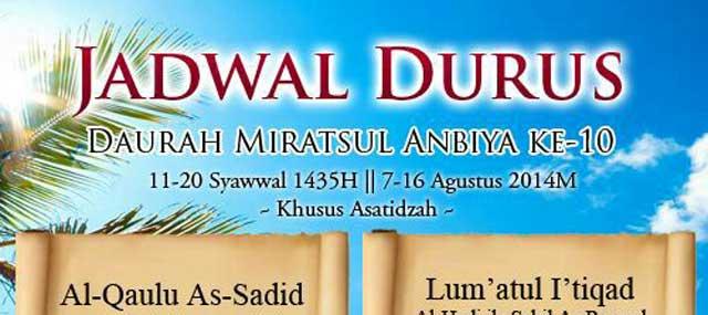 Siaran LIVE Durus Dauroh Miratsul Anbiya ke-10 Khusus Asatidzah