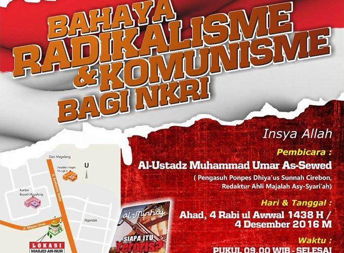 bahaya radikalisme dan komunisme bagi NKRI